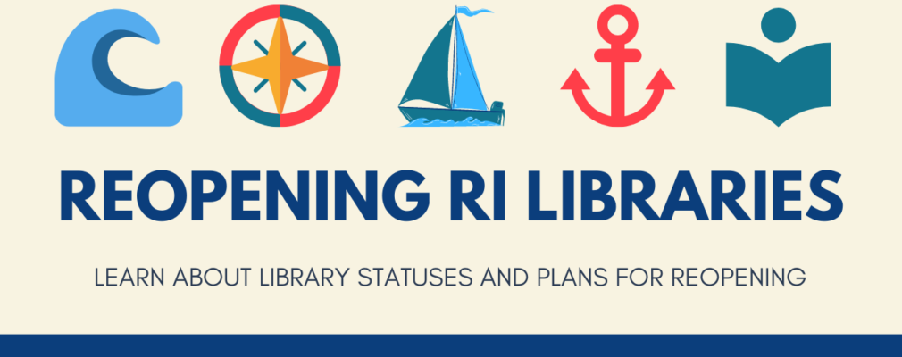 Reopening RI Libraries logo